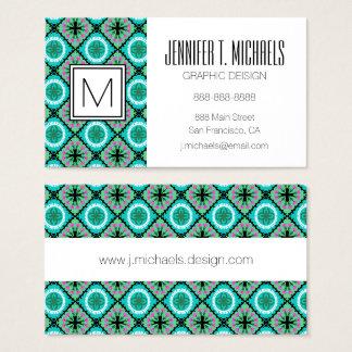 Suzani Pattern with Uzbek and Kazakh Motifs Business Card
