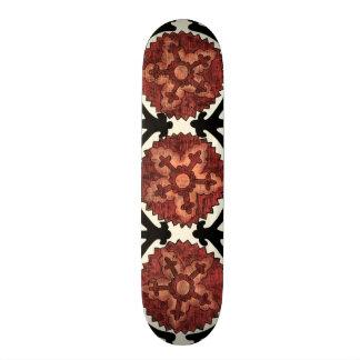 Suzani Style Decorative Floral Pattern Skate Boards
