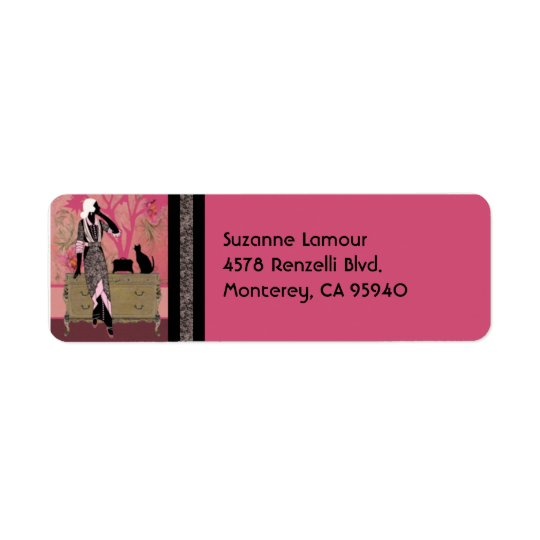 Suzanne in Pink and Tan - Address Labels
