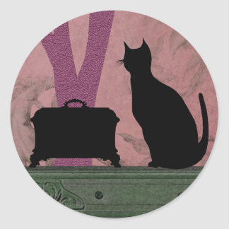 Suzanne's Cat in Lilac - Stickers
