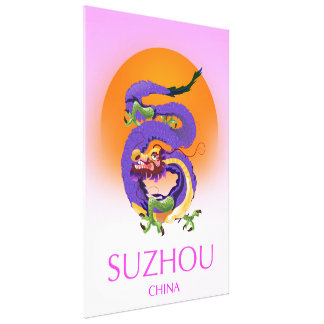 Suzhou China Dragon travel poster Canvas Print