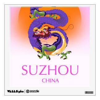 Suzhou China Dragon travel poster Wall Sticker