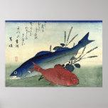 Suzuki & Kimmedai: Hiroshige's Japanese Fish Print