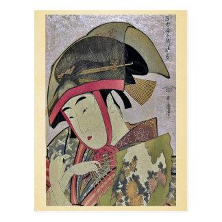 Suzume of Yoshiwara by Kitagawa, Utamaro Ukiyoe Postcard