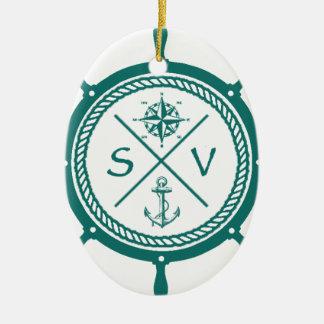 SV5 CERAMIC OVAL ORNAMENT