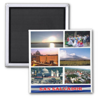 SV - El Salvador - Mosaic Collage Magnet