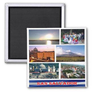 SV - El Salvador - Mosaic Collage Square Magnet