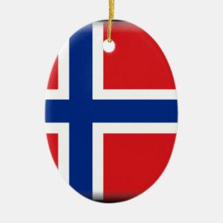 Svalbard (Norway) Flag Ceramic Oval Ornament
