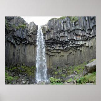 Svartifoss waterfall, Iceland Posters