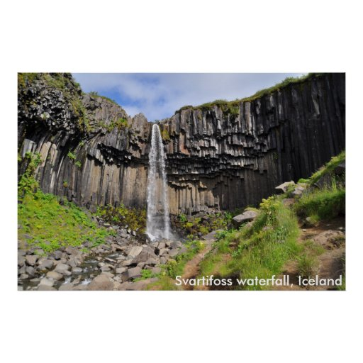 Svartifoss waterfall, Iceland Poster