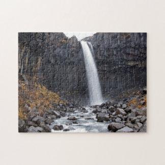 Svartifoss waterfall in Iceland jigsaw puzzle