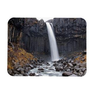 Svartifoss waterfall in Iceland rectangular magnet