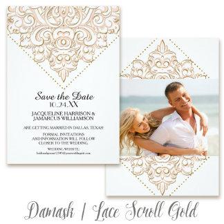 Damask   Lace Scroll Gold