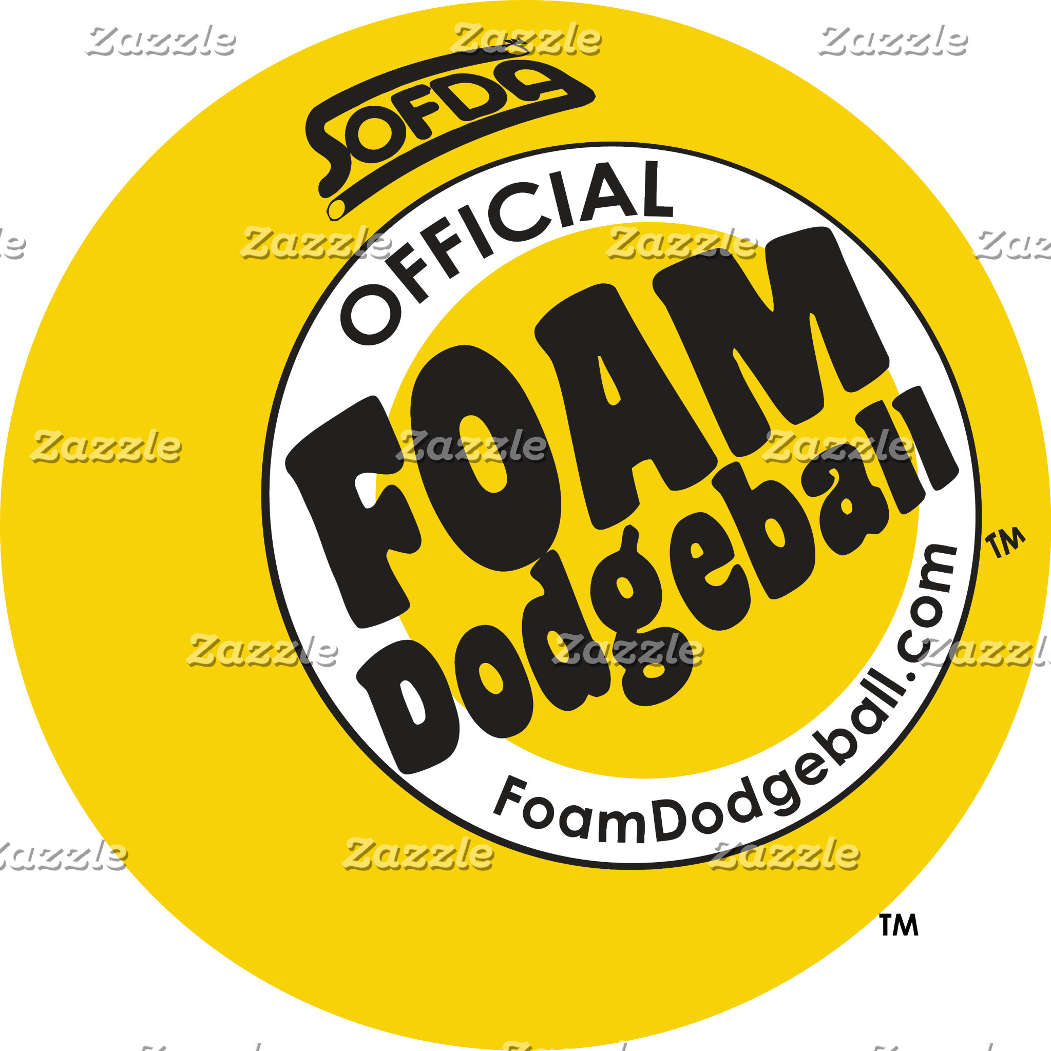 Foam Dodgeball Logo Items