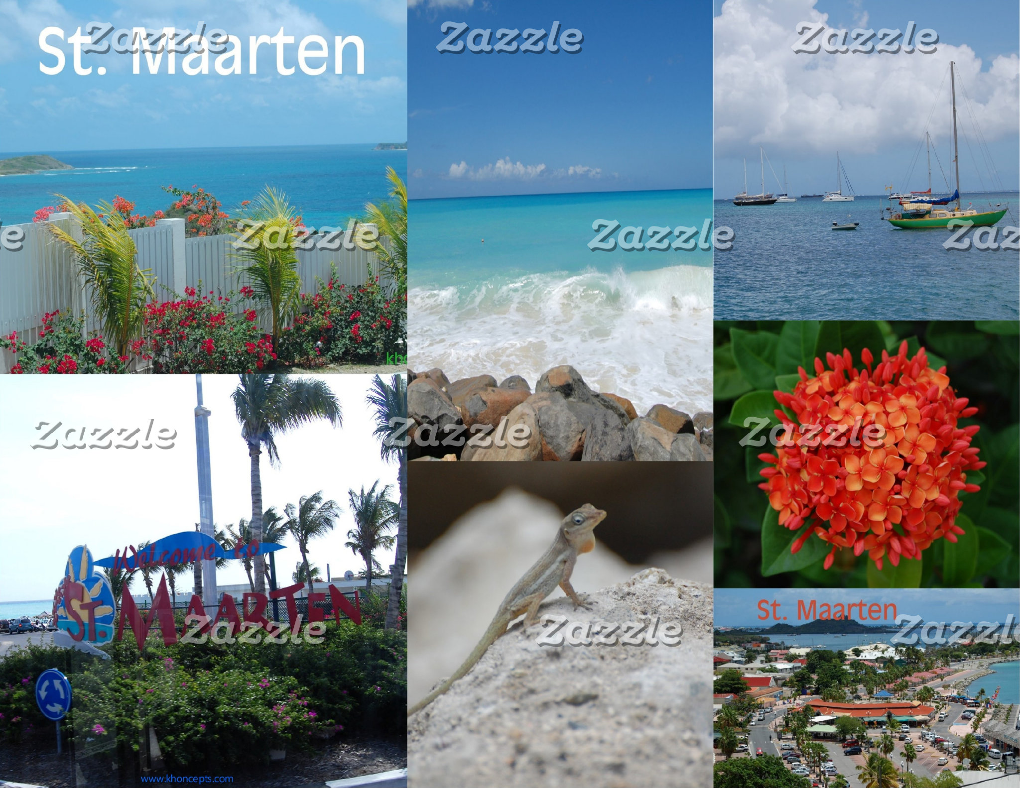 Saint Maarten Photo Collage