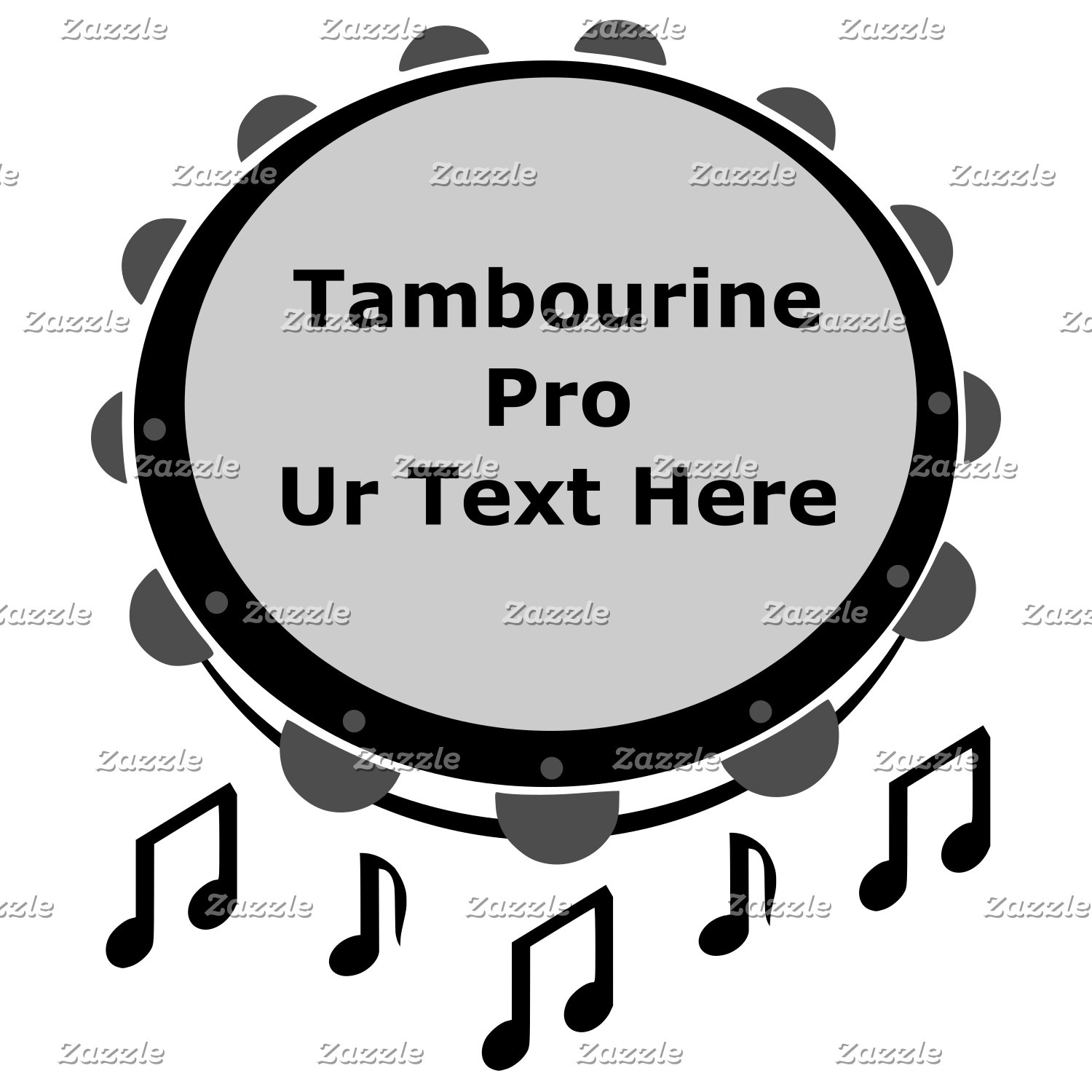 Black and White Tambourine