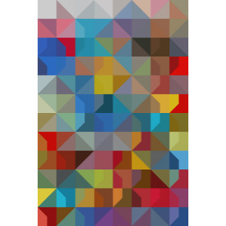 Geometric Art Multicolor Diamonds