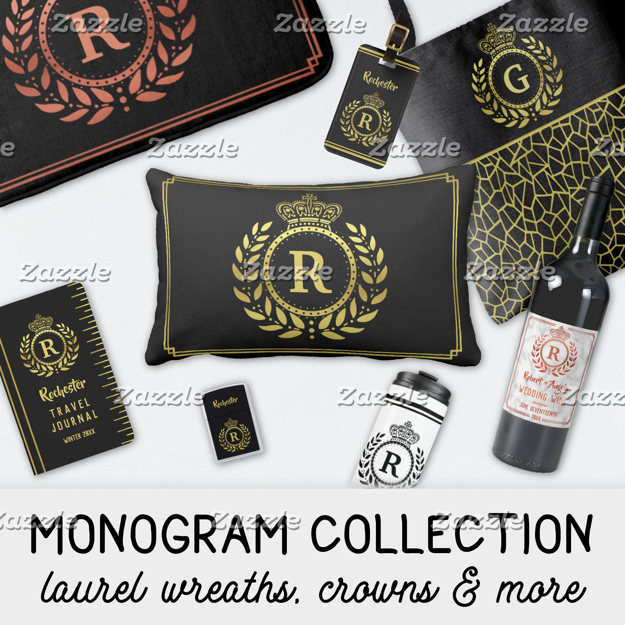 MONOGRAMS | LAUREL WREATHS