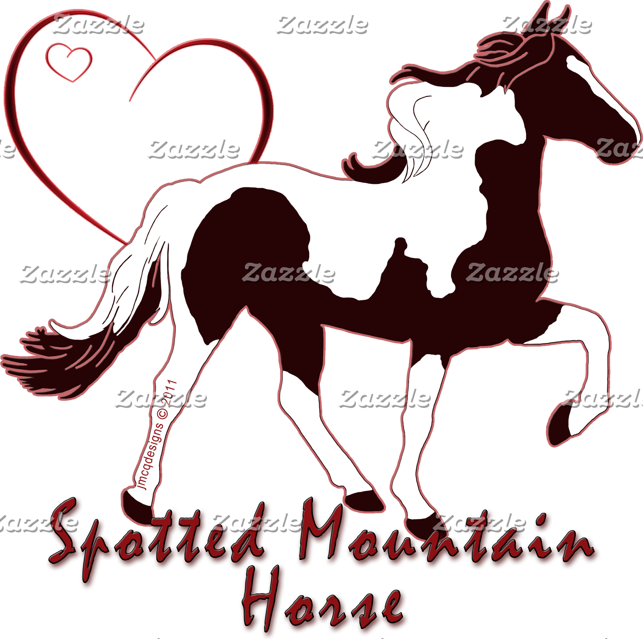 Spotted Mountain Horse