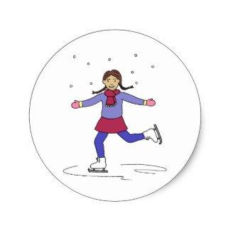 Ice Skating Girl Figure Skater