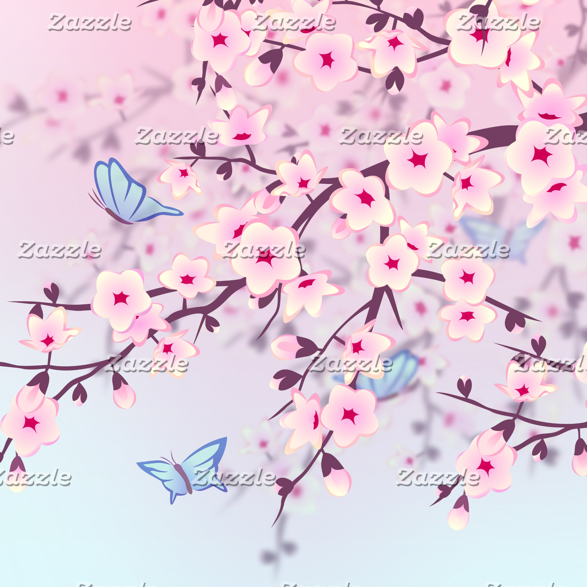 Cherry Blossoms Landscape