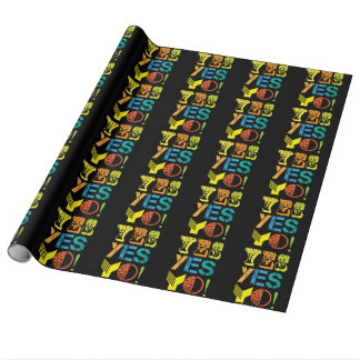 funky quotes wrapping paper