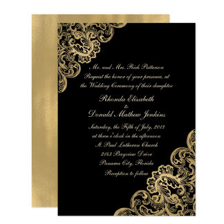 Formal Black and Gold Wedding Set