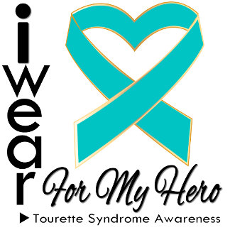 I Wear a Ribbon For My Hero Tourette Syndrome