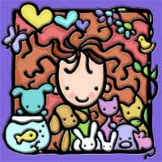 Little Girlie just loves her animals!