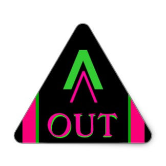 OUT - EXIT Visual Identifiers to Show Way Out