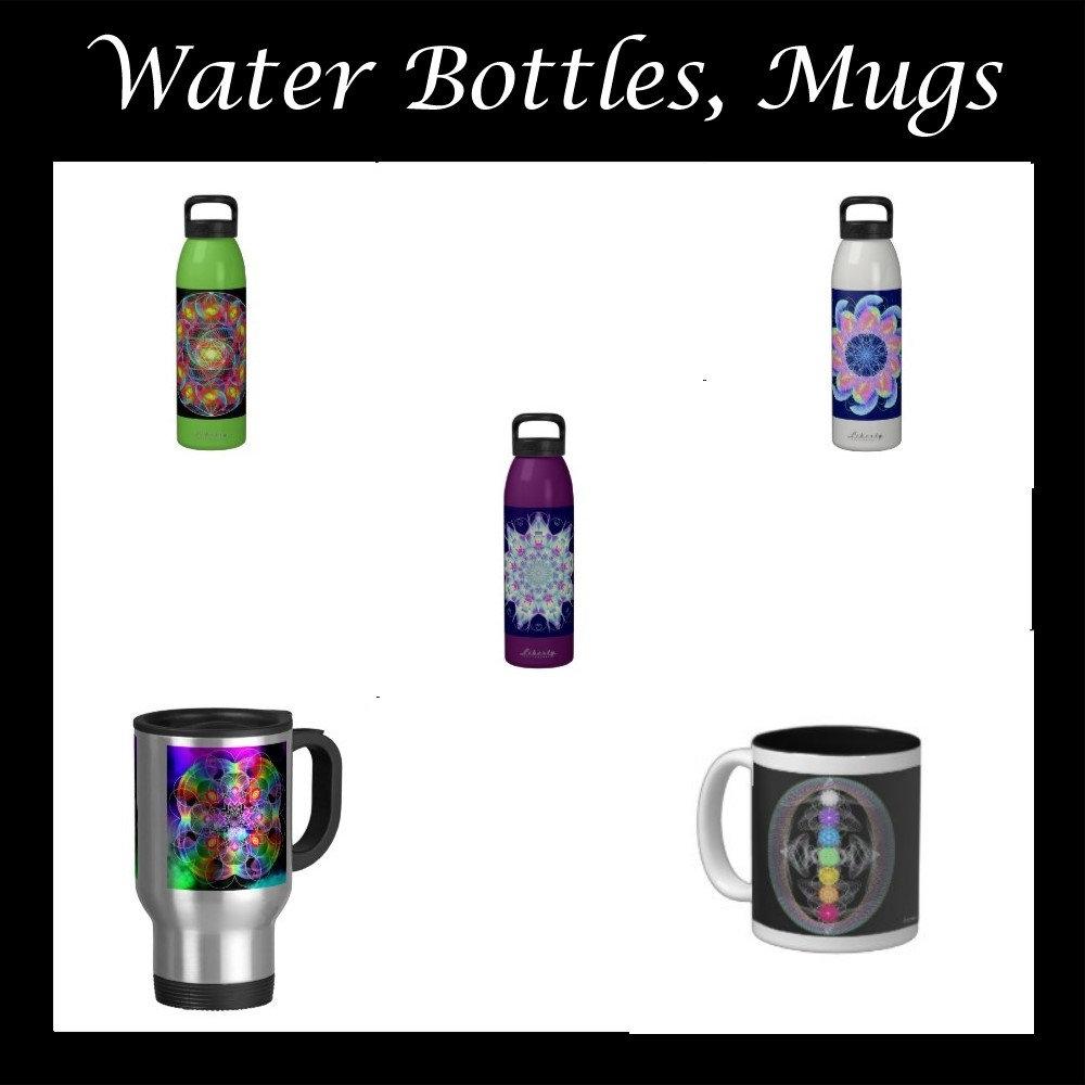 Water Bottles, Mugs
