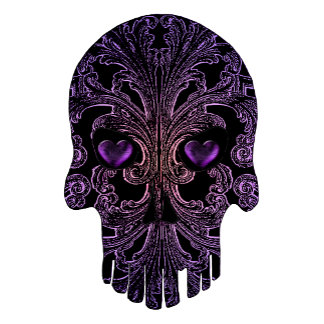 Filigree Goth Day of the Dead Purple Skull
