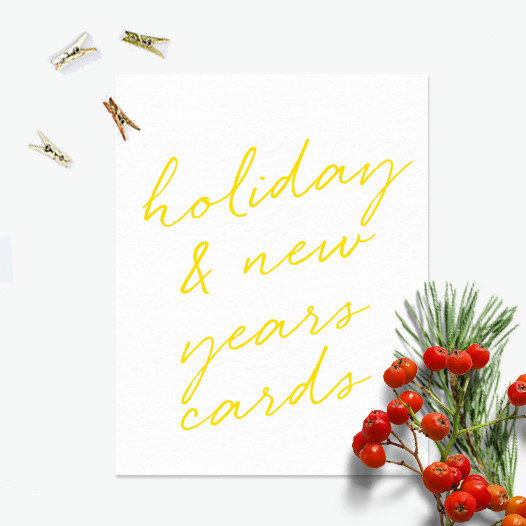 Holiday and New Years Cards
