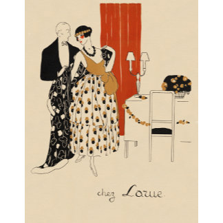 """Early 1900's Couple Poster Print"""