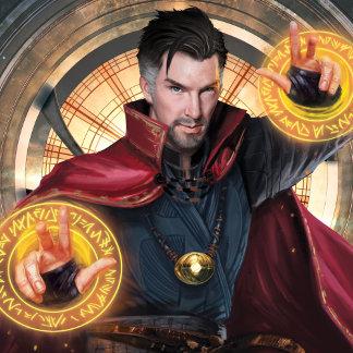 Doctor Strange Wielding Mandalas of Light