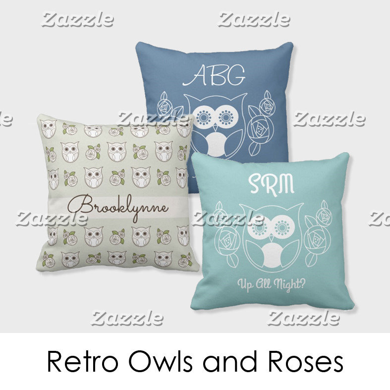 Retro Owls and Roses