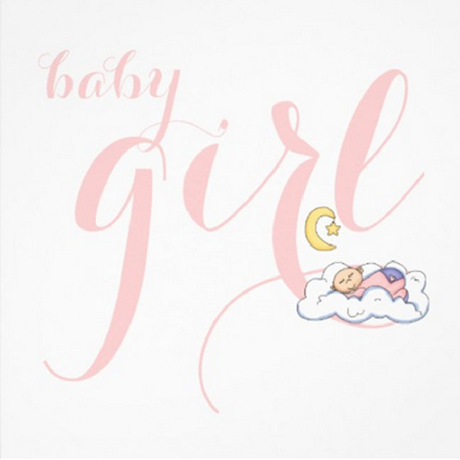 Sleeping baby text design