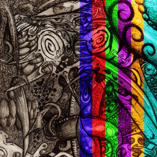 Mystic Blades Intricate Abstract
