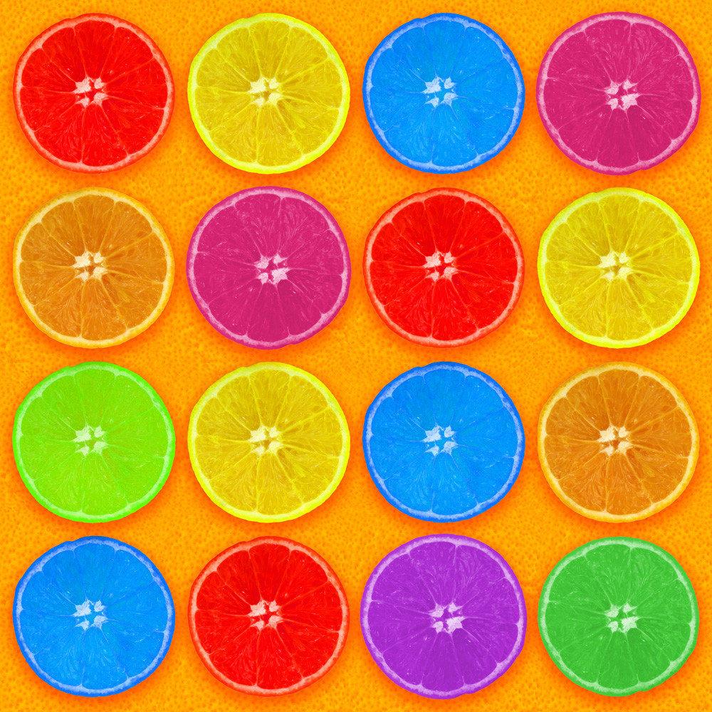 Fresh Colorful Orange Slices