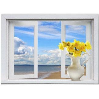Open Window Views (white frame)