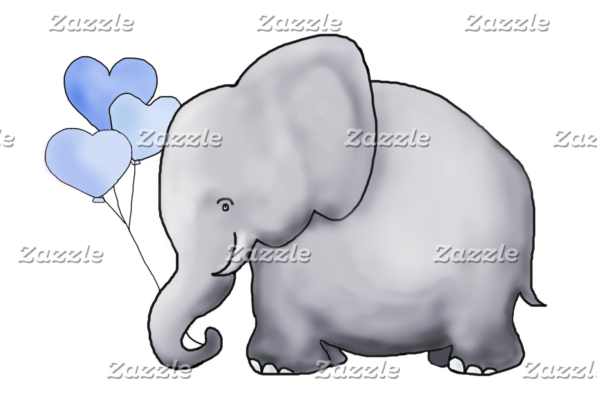 Heart Balloon Elephant - Baby in the Car