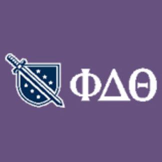 Phi Delta Theta - White Greek Lettters and Logo