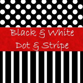 Black & White Dot & Stripes