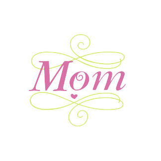 Scroll Mom Tag