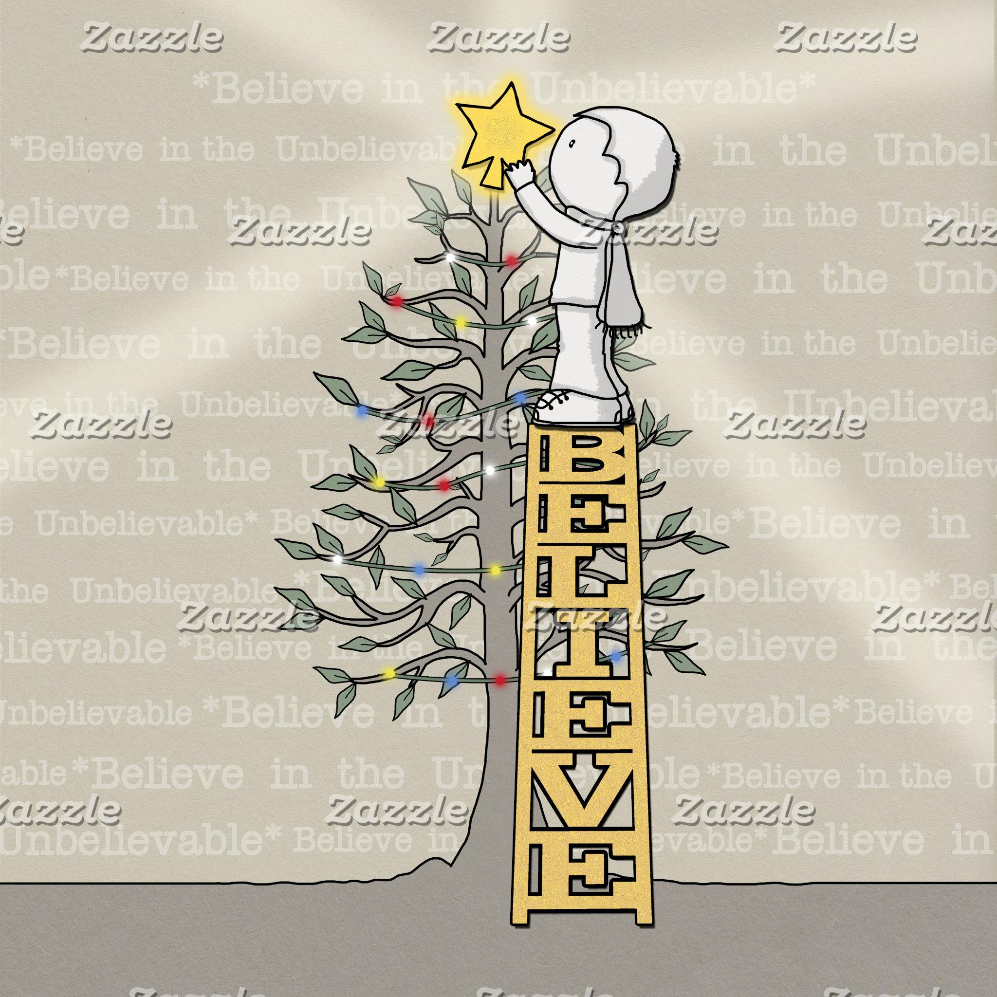 Believe Ladder -Christmas Tree