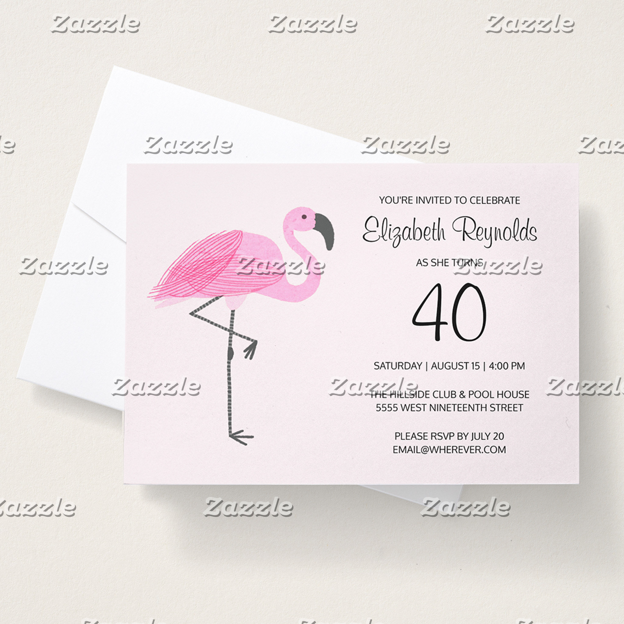 Pink Flamingo 40th