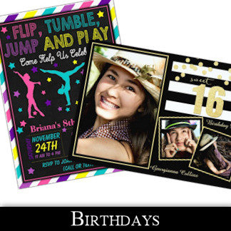 Birthday Party Invitations and More