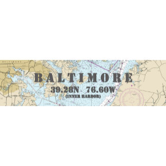 Nautical Boating Charts: Baltimore Maryland