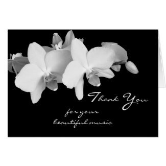 Funeral Music Thank You Cards