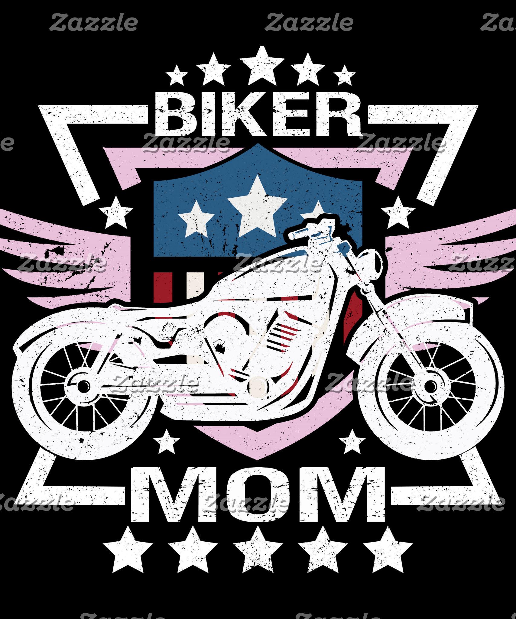 American Flag Biker Mom